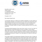 2015/11/16 Joint NCAPA and NAPABA Letter